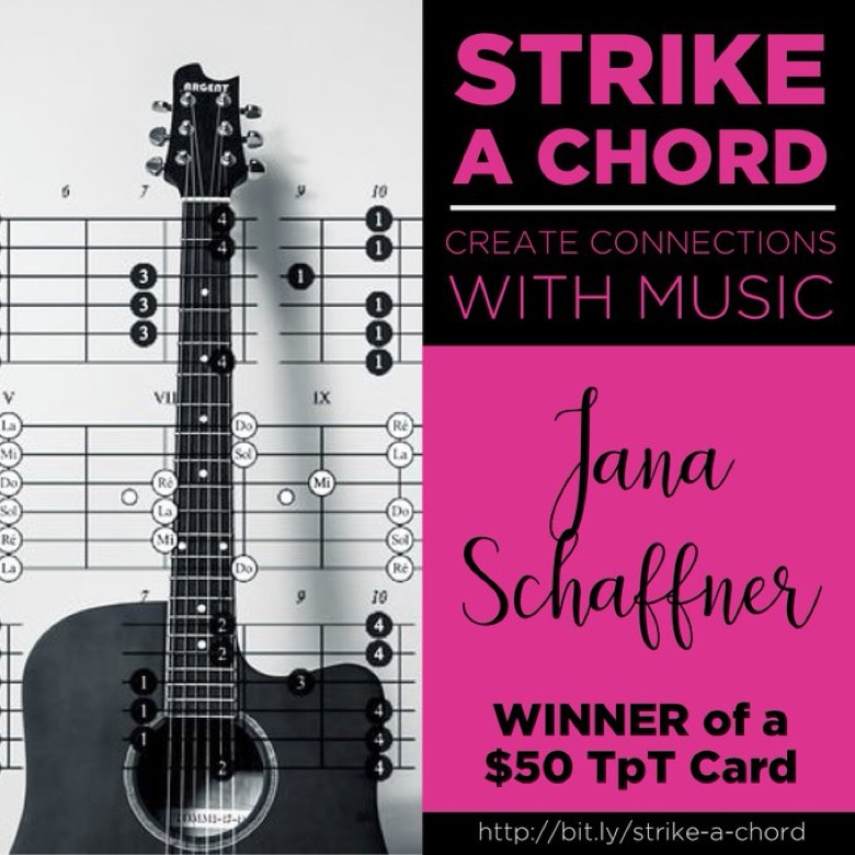 Strike A Chord Gift Card Winners Music For Spanish Class
